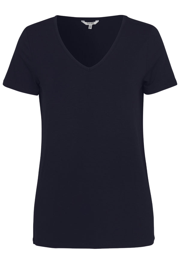 mbyM Queenie tee shirt top, navy, front view