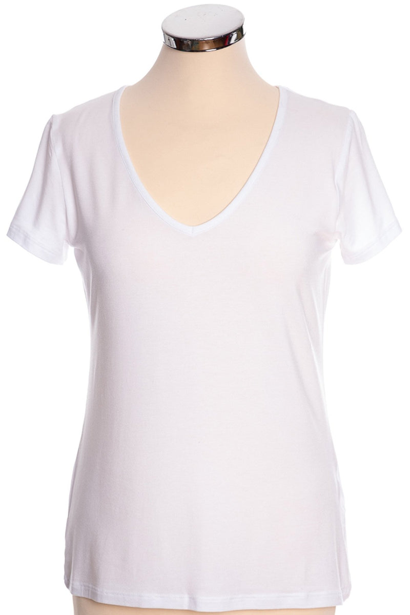 mbyM Queenie tee shirt top, white, front view