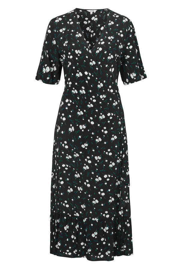 mbyM Bess floral print dress, black, front view