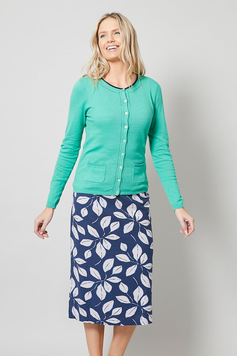 Lily and Me Midi skirt, navy, front view
