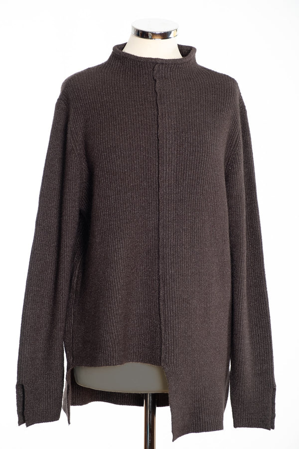 Joss turtle neck jumper, khaki, front view