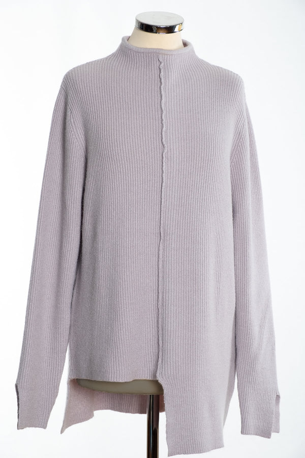 Joss turtle neck jumper, silver, front view