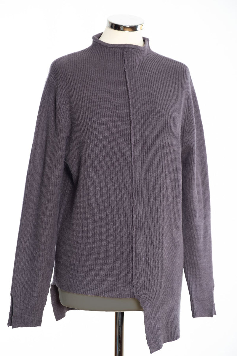 Joss turtle neck jumper, charcoal, front view