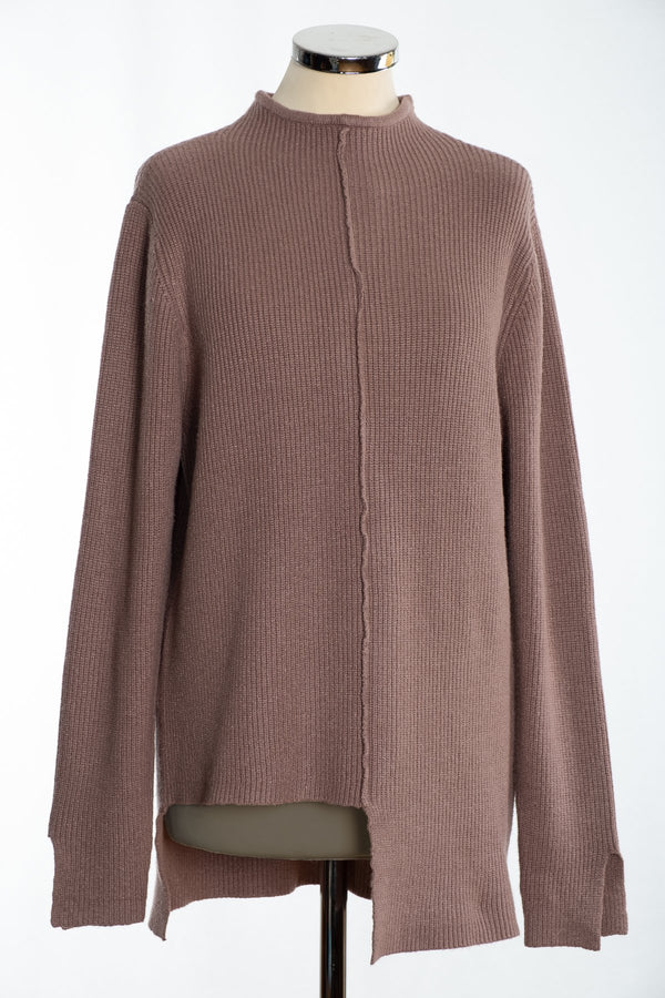Joss turtle neck jumper, mink, front view
