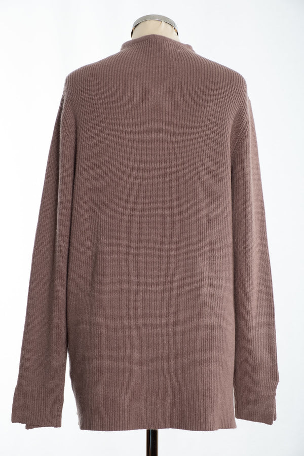 Joss turtle neck jumper, mink, rear view