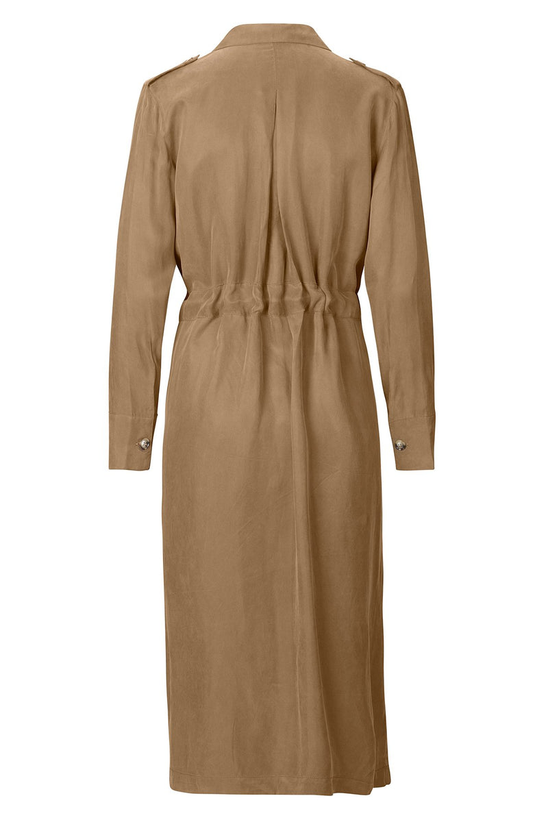 mbyM Veronica shirt dress, brown, rear view