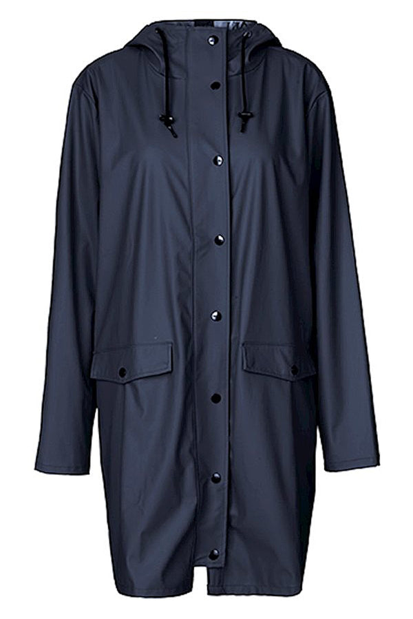 mbyM Fabiola waterproof raincoat, navy, front view