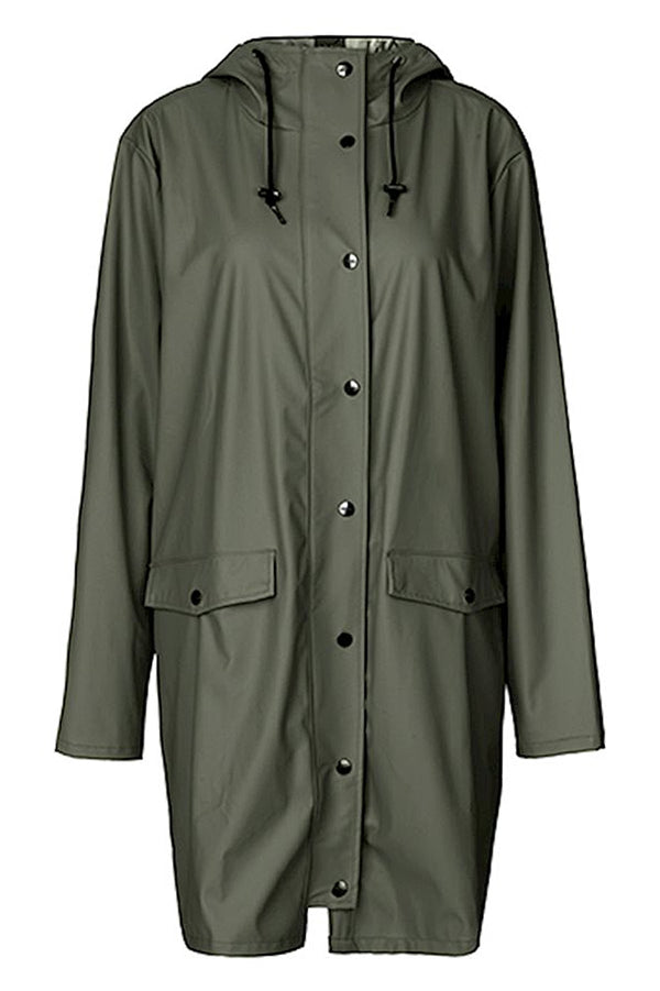 mbyM Fabiola waterproof raincoat, green, front view