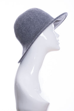 Kopka merino wool wide brimmed hat, grey marl, side view