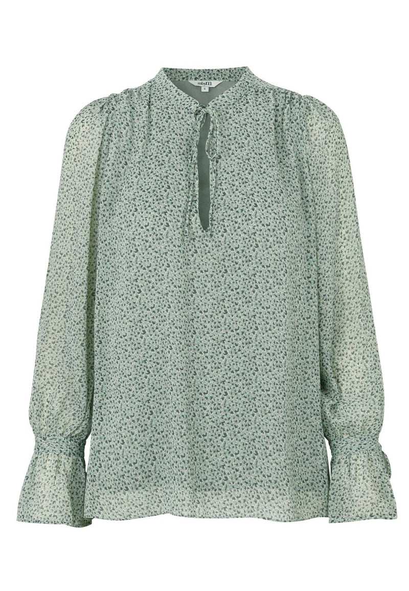 mbyM Clarine blouse, pale green, front view