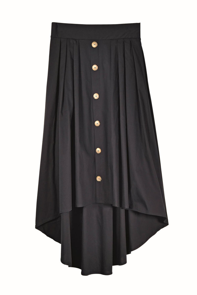 Humility skirt, navy, front view