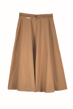 Humility skirt, fawn, front view