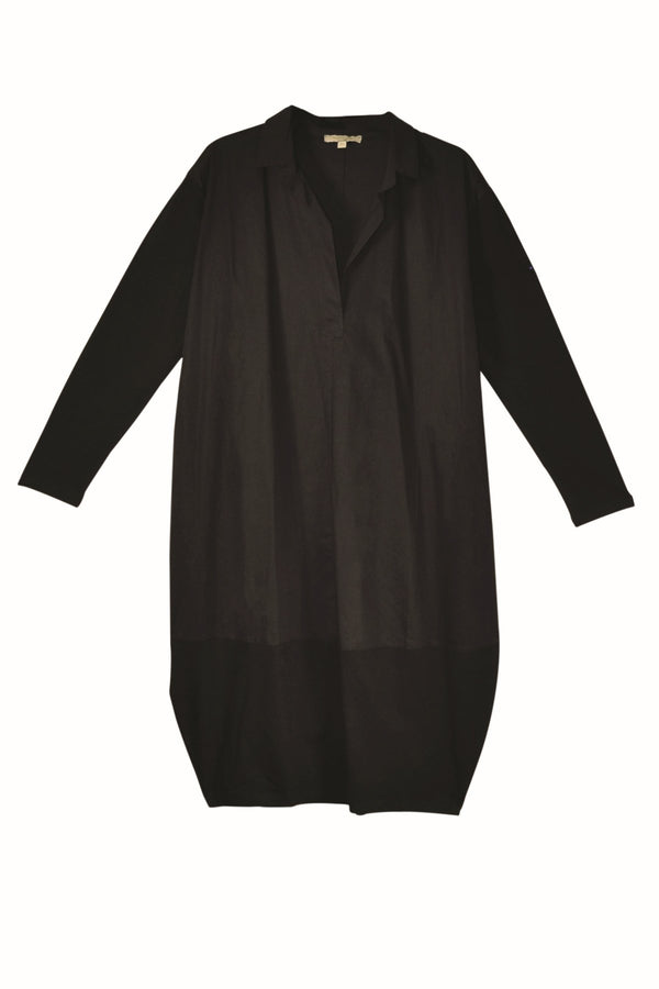 Humility tunic, black, front view