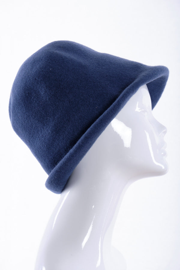 Merino wool cloche hat