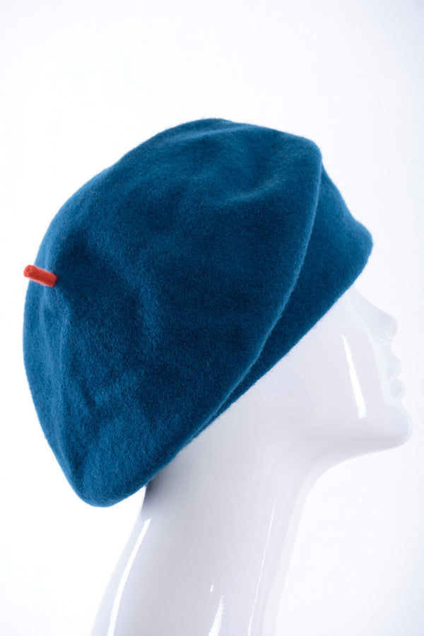 Merino wool roll up beret