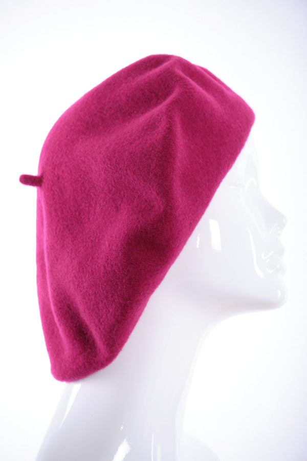 Merino wool wide beret