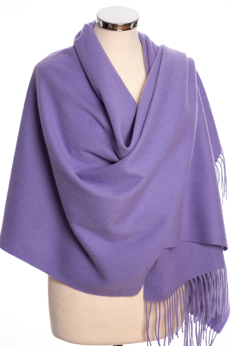 mbyM lambswool stole, lilac, wrap view