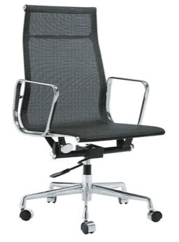 BLACK High Back Full Mesh Chair (Height Adjustable) YS-6837