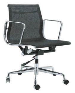 BLACK Mid Back Full Mesh Chair (Height Adjustable) YS-6838