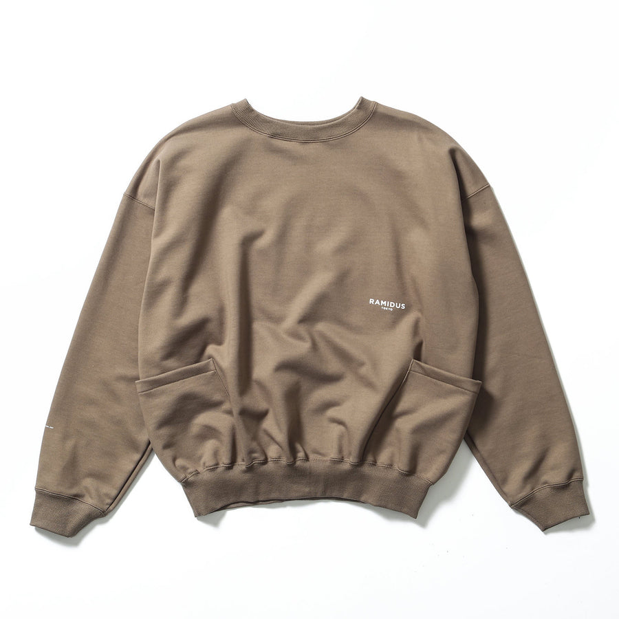LOGO CREW POCKET SWEATSHIRT