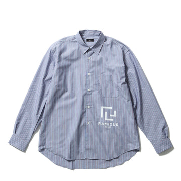 BIG LOGO PRINT SHIRT / STRIPE