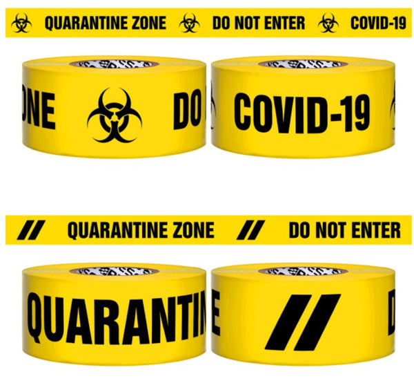 COVID-19 QUARANTINE ZONE BARRIER TAPE