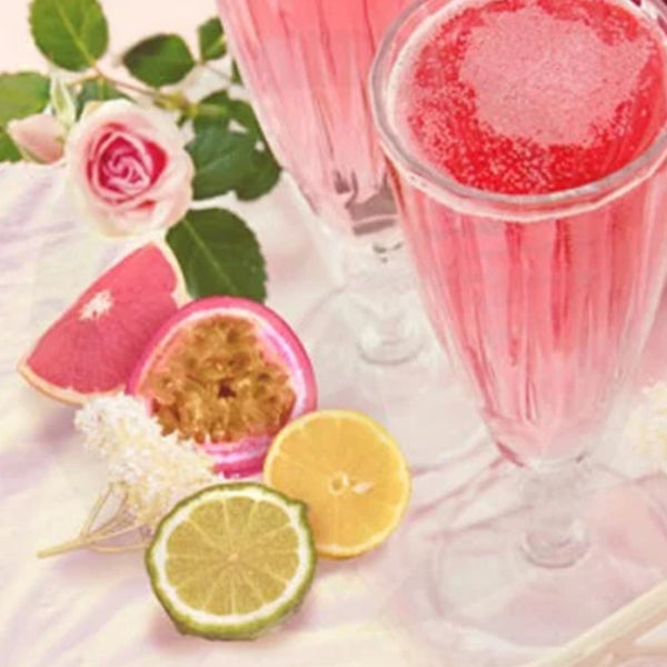 Pink Champagne and Exotic Fruits