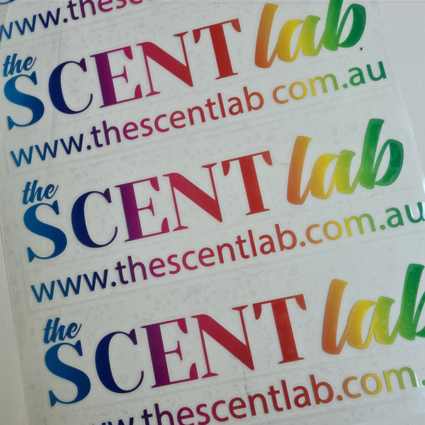 The Scent Lab Sticker - 300mm Rainbow