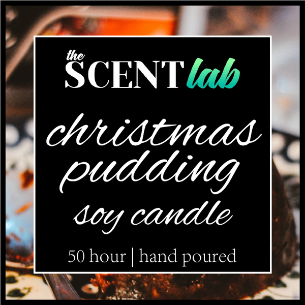 Christmas Pudding - Clear Candle - 50 Hour