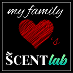 My Family Loves The Scent Lab sticker