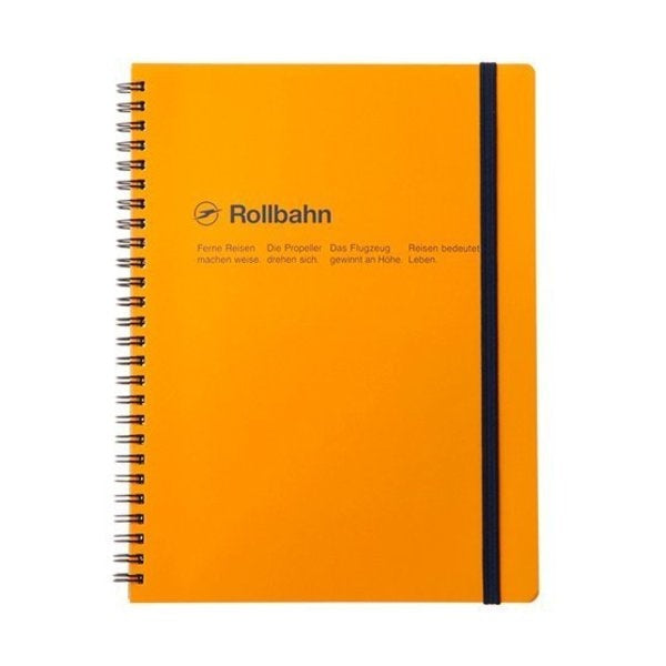 "Rollbahn Spiral Notebook in Yellow, Large (5.5"" X 7"")"