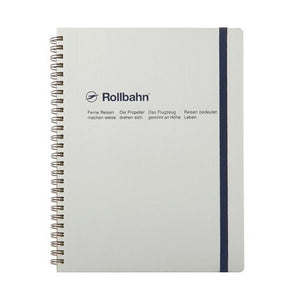 "Rollbahn Spiral Notebook in Silver, Large (5.5"" X 7"")"