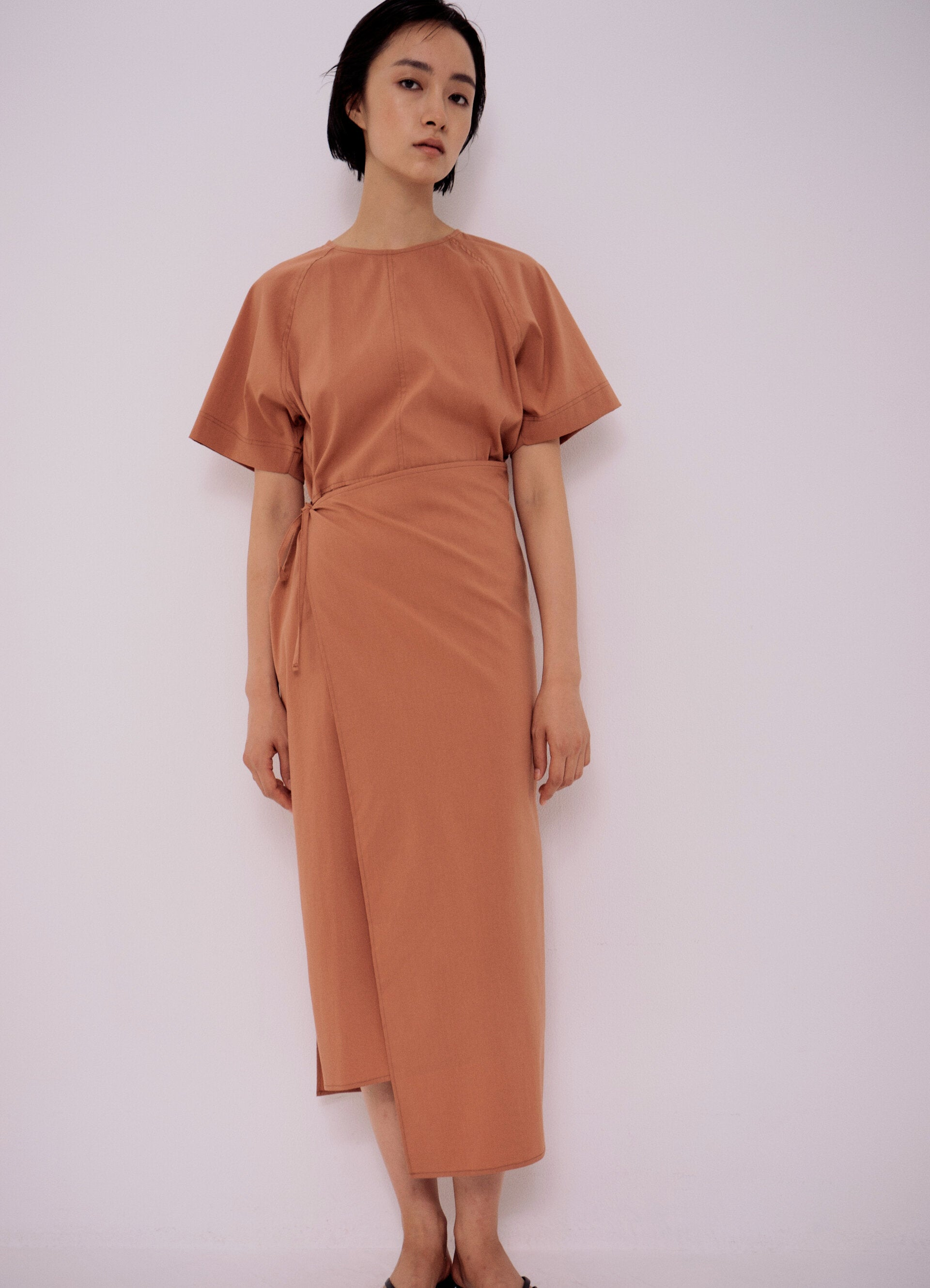 Wrap Dress, Dusty Orange