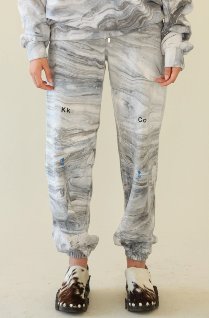Sweatpants in Marble Dye