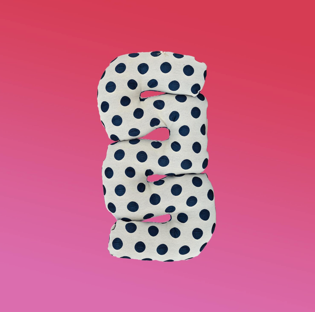 Blueberry Polka Dot Squiggle Pillow