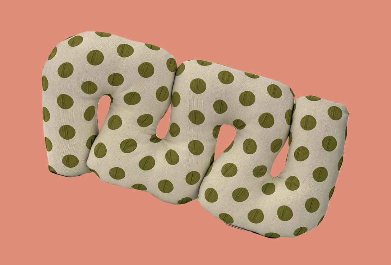 Green Grapes Squiggle Pillow