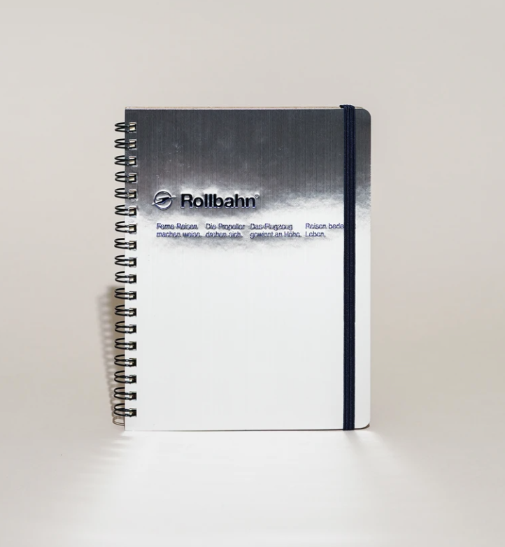 Rollbahn Spiral Notebook, A5, 6.5 x 8.5 inches, Silver