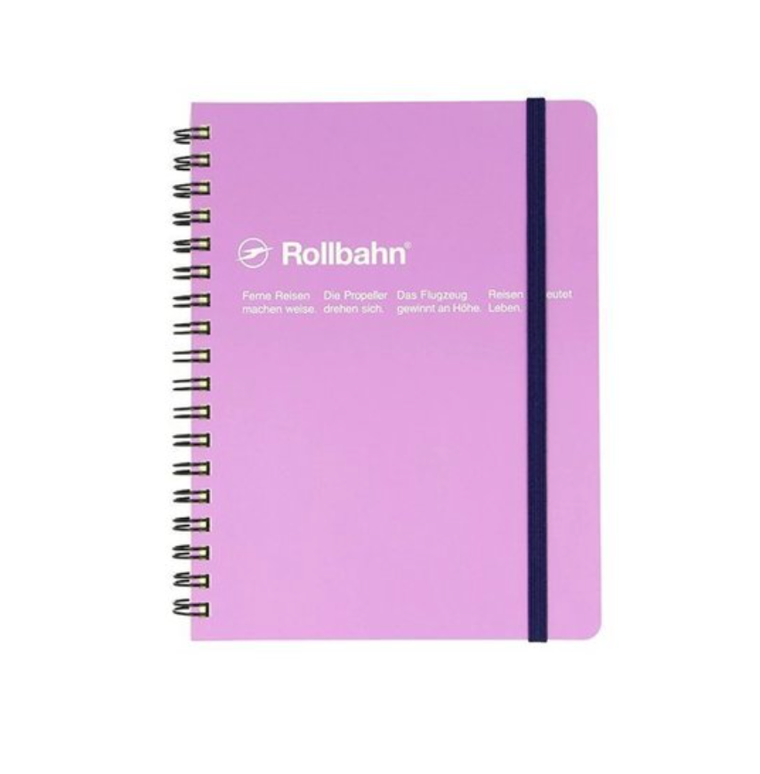 Rollbahn Spiral Notebook, Mini Memo 3 x 4 inches, Light Purple