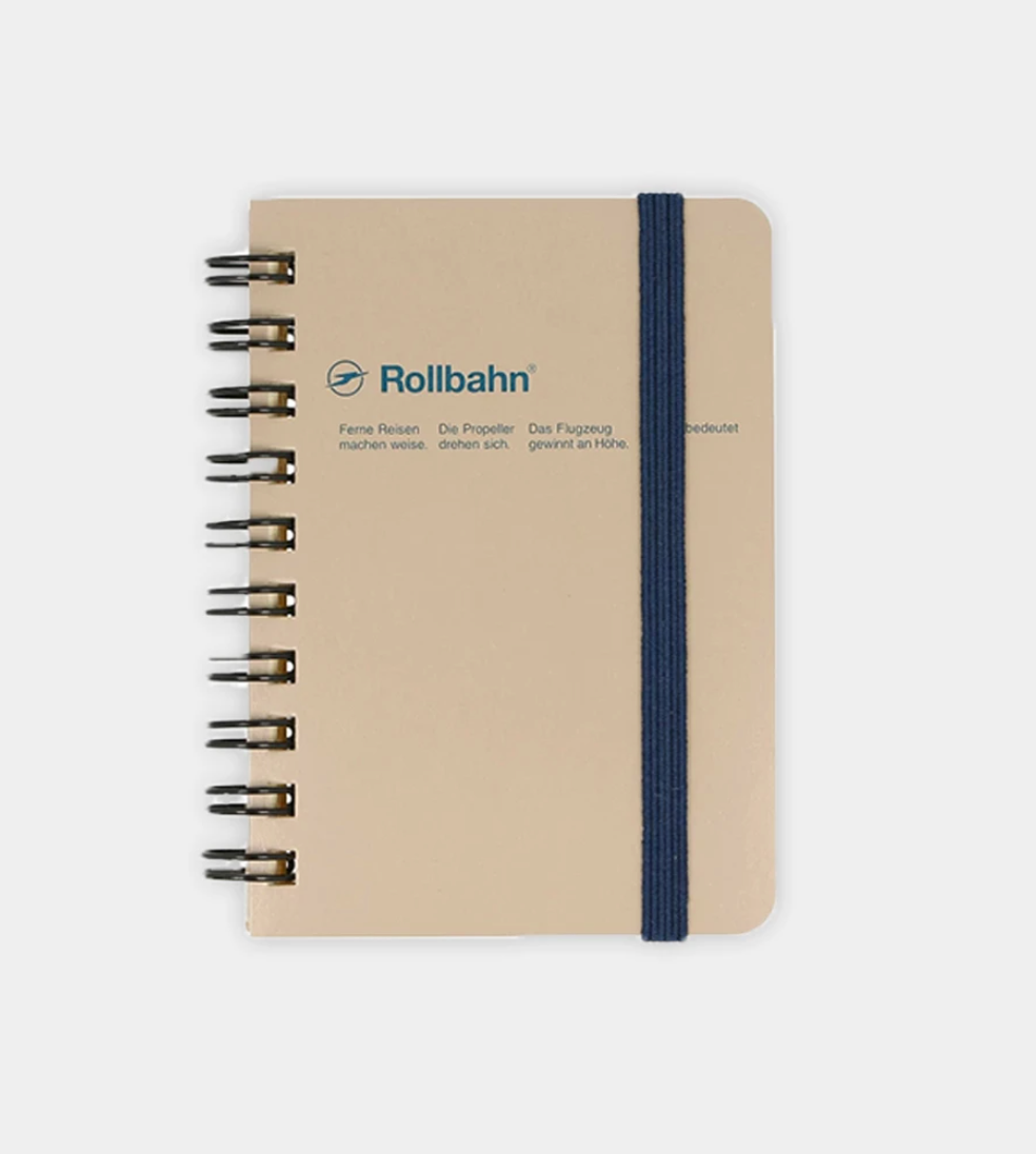 Rollbahn Spiral Notebook, Mini Memo 3 x 4 inches, Greige