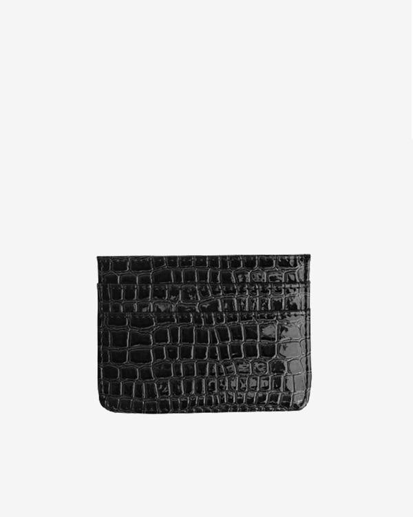 Card Holder Black Vegan Croc