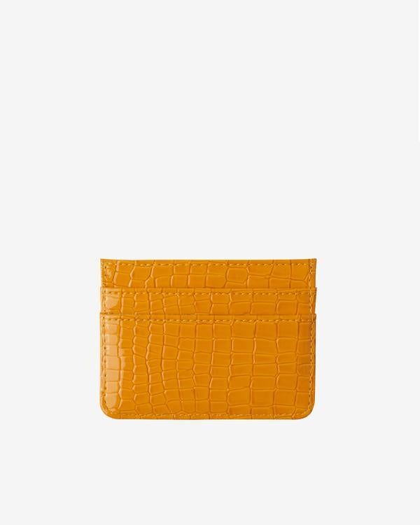 Card Holder Orange Vegan Croc