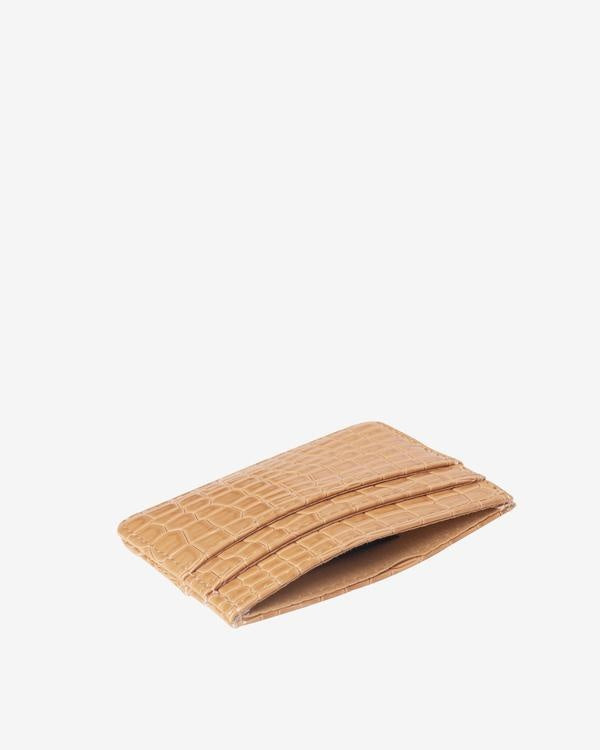 Card Holder Beige Vegan Croc