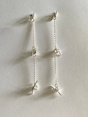 Three Barbed Dangle Studs