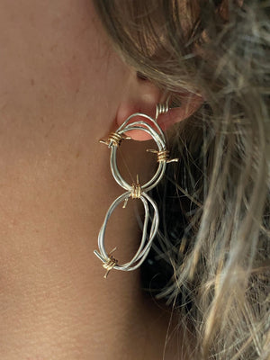Double Tangled Barbed Hoops