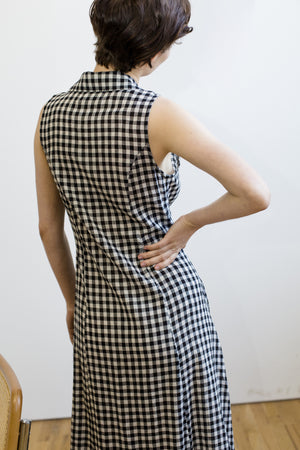 Emily Dress, Black and White Check