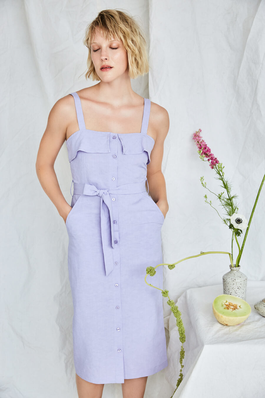 Olympia Dress, Lavender