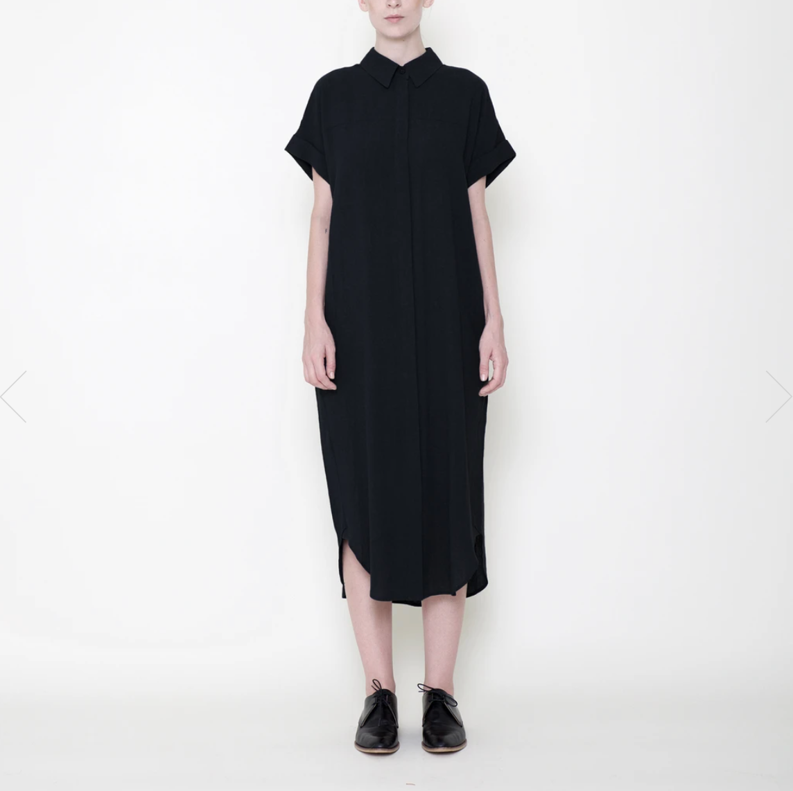 Signature Shirt Maxi Dress, Black