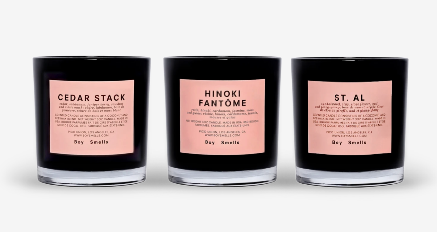 Boy Smells Trio Votive Set (3 × 3oz votives) — Hinoki Fantome + Cedar Stack + St. Al