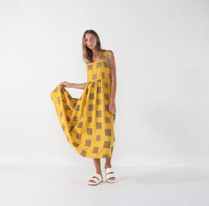 Summer Sundress, Canary Square Print
