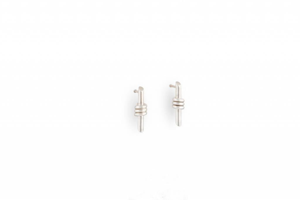 Serene Wrap Stud Earrings, Sterling Silver